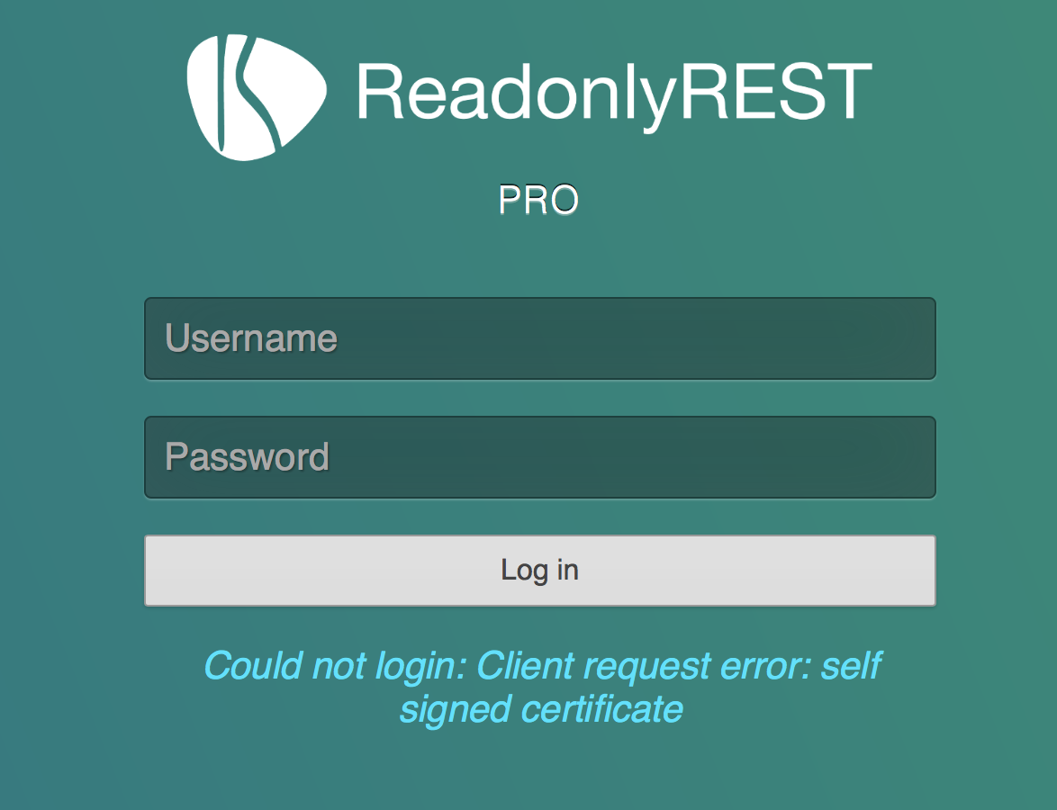 Self Signed Ssl Certificate Error Readonlyrest Security For